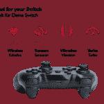 Lioncast Wireless Controller für Nintendo Switch Black